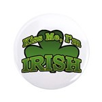 "Kiss Me I'm Irish Shamrock 3.5"" Button (100 pack)"