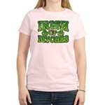 Distressed Drink Up Bitches Shamrock Women's Light
