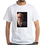 Charles Darwin: God Creation White T-Shirt
