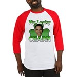 Obama My Lucky Charm Baseball Jersey