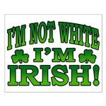 I'm Not White I'm Irish Small Poster