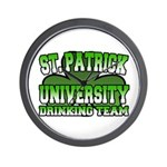 St. Patrick University Drinking Team Wall Clock