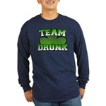 Team Drunk Long Sleeve Dark T-Shirt
