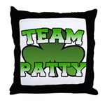 Team Patty Throw Pillow