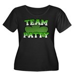 Team Patty Women's Plus Size Scoop Neck Dark T-Shi
