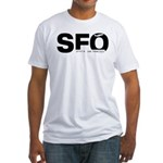 San Francisco Airport code SFO Black Des. T-Shirt