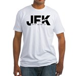 New York City JFK Airport Black Des Fitted T-Shirt