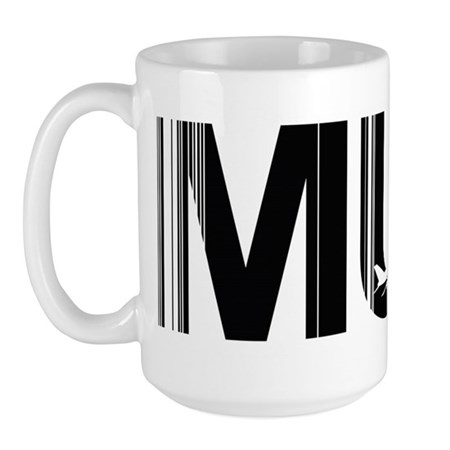 Munich MUC Germany Air Wear Code Large Mug