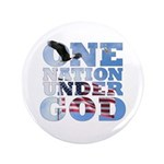 """One Nation Under God"" 3.5"" Button"