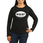 Woof Paws Women's Long Sleeve Dark T-Shirt