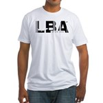 Leeds England LBA Airport Code Fitted T-Shirt