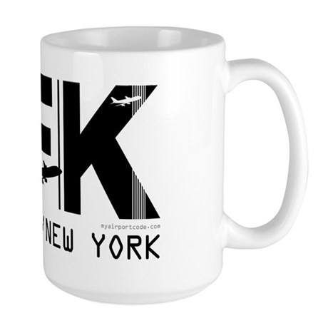 New York JFK Airport Code Large Mug