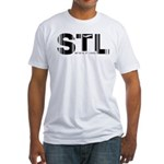 St. Louis Airport Code Missouri STL Fitted T-Shirt