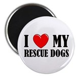 Love My Rescue Dogs Magnet