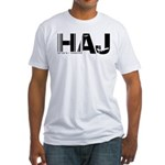 Hannover Airport Code Germany HAJ Fitted T-Shirt