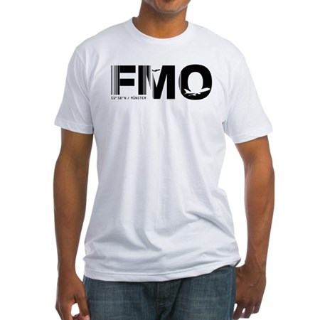 Munster Airport Code Germany FMO Fitted T-Shirt