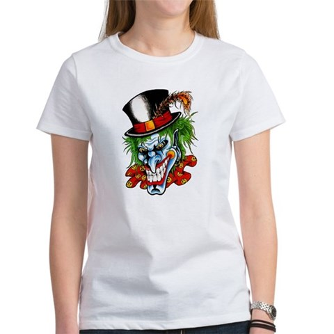 evil clown tattoos. Mad Evil Clown Tattoo Tee