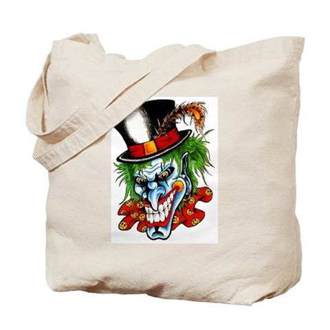 Mad Evil Clown Tattoo Tote Bag