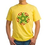 Celtic Christmas Star Yellow T-Shirt