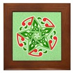 Celtic Christmas Star Framed Tile