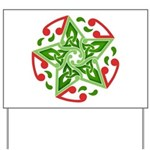 Celtic Christmas Star Yard Sign