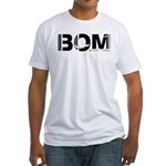 Mumbai Airport Code India BOM Fitted T-Shirt