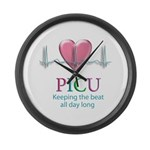 PICU Keeping the beat all day Large Wall Clock
