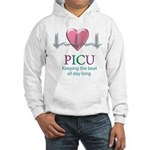 PICU Keeping the beat all day Hooded Sweatshirt