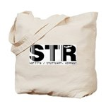 Stuttgart Airport Code Germany STR Tote Bag