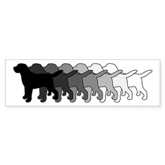 Gradient Labradors Sticker (Bumper)