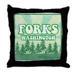 Twilight Forks Throw Pillow
