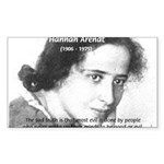Philosopher: Hannah Arendt Rectangle Sticker