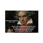 Classical Music: Beethoven Rectangle Magnet (100 p
