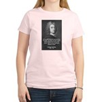 Irish Idealist: George Berkeley Women's Pink T-Shi