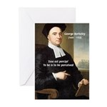 Philosopher: George Berkeley Greeting Cards (Packa