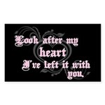 Edward Heart Twilight Rectangle Sticker 50 pk)