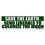 Save the Earth Anti-Liberal Bumper Sticker