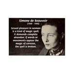 Simone De Beauvoir Rectangle Magnet (10 pack)