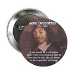 Philosopher: Rene Descartes Button