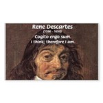 Philosopher Rene Descartes Rectangle Sticker