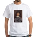 Philosopher Rene Descartes White T-Shirt
