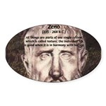 Stoic Philosophy: Zeno Oval Sticker