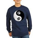 Yin Yang Paws Long Sleeve Dark T-Shirt