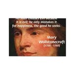 Feminist Mary Wollstonecraft Rectangle Magnet (100