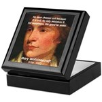 Feminist Mary Wollstonecraft Keepsake Box