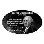 President George Washington Oval Sticker
