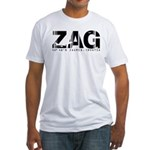 Zagreb Airport Code Croatia ZAG Fitted T-Shirt