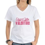 Edward Twilight Valentine Women's V-Neck T-Shirt