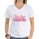 Jacob Black Valentine Women's V-Neck T-Shirt