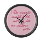 Twilight Valentine Large Wall Clock